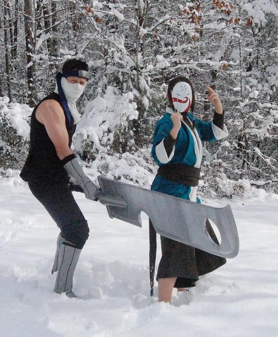 Haku and Zabuza Cosplay 5 by littlecasaroo on DeviantArt Zabuza Sword Cosplay