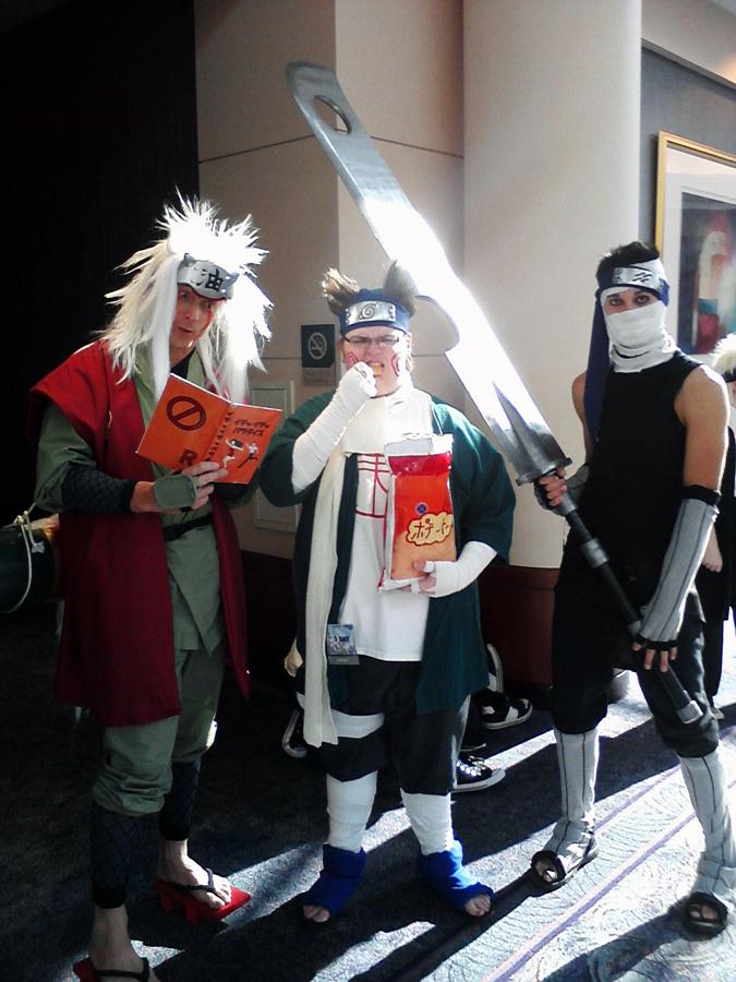 jiraiya chouji zabuza cosplay by littlecasaroo on deviantart