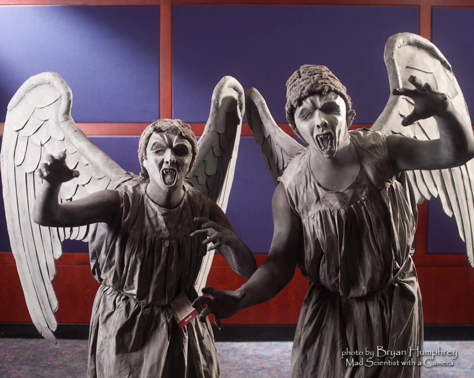 Weeping Angels Cosplay by littlecasaroo