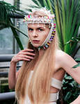 Tropical headpiece-fashion headpiece-circus headdr