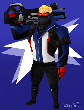 Mr Incredible as Soldier 76