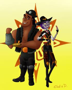 Yzma and Kronk as Ashe and BOB