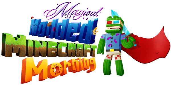 Bashurverse - MagicalModdedMinecraftMorning logo by greenhair