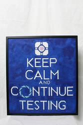 Portal 'Keep Calm' Needlepoint