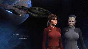 Kira Juno and Elyani Daket Star Trek Online by Alistanniel