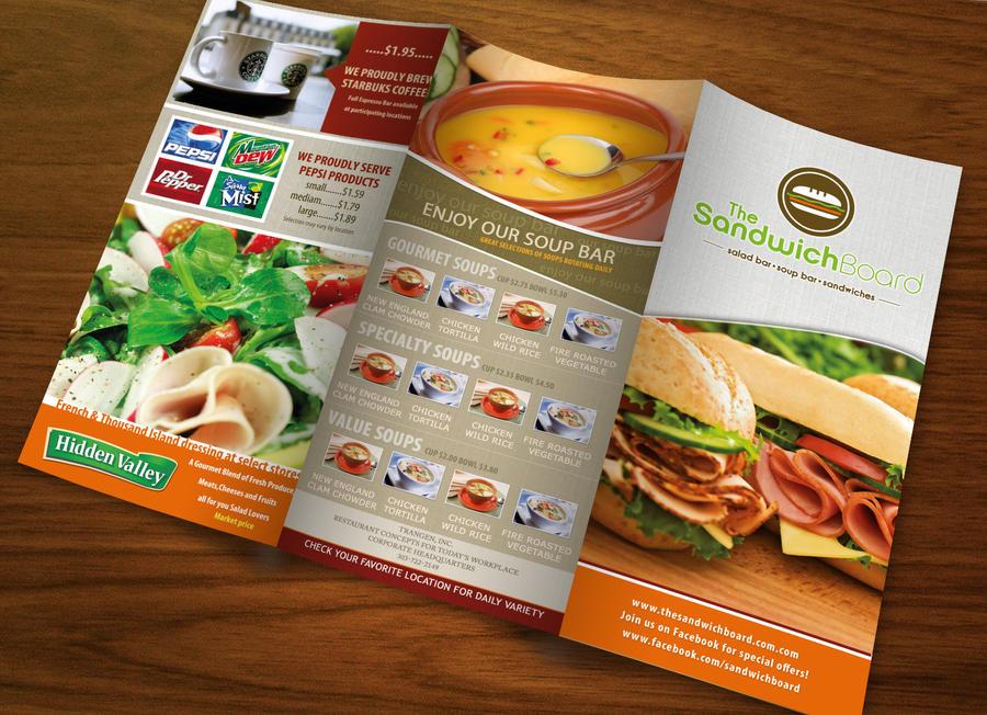 Restaurant brochure by sahussain on deviantart