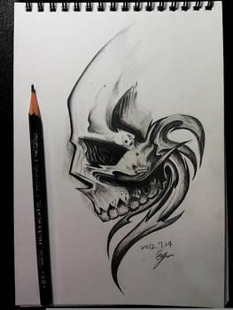 Skull copy painting