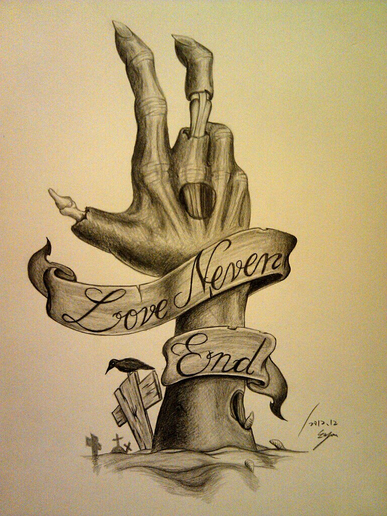 love never end by eason41 designs interfaces tattoo design 2012