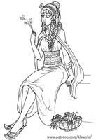 Lady Healer (Egyptian style Ryuutama) by klawzie