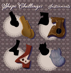 Shape Challenge: Instruments by klawzie