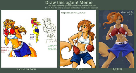 Draw This Again! Meme (Boxer Kitty) by klawzie