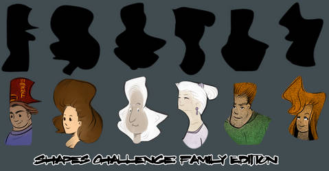 Shapes Challenge: Family by klawzie
