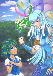 The Balloon Seller - Ninian from Fire Emblem by klawzie