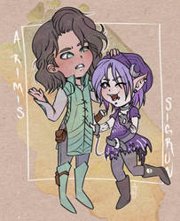 Arimis (Ryuutama) and Sigrun (Monsterhearts)