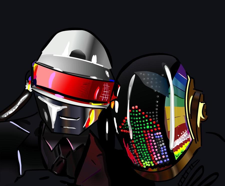 The Story of Daft Punk  Daft_Punk_by_Marvelrulez