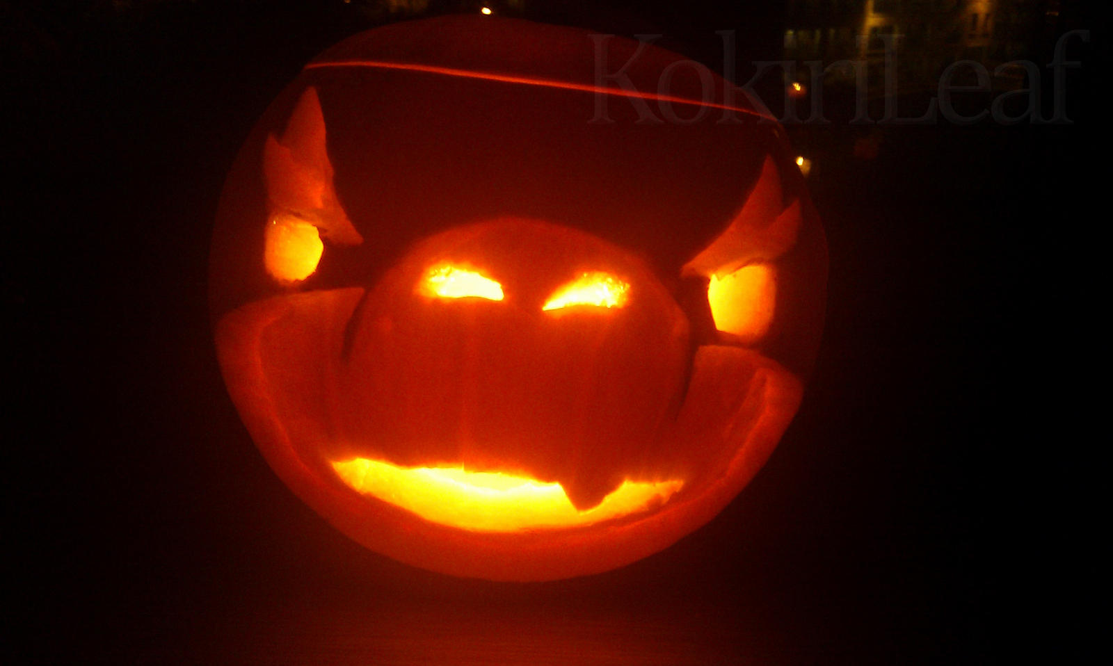 Bowser Jr Pumpkin by Liefesa