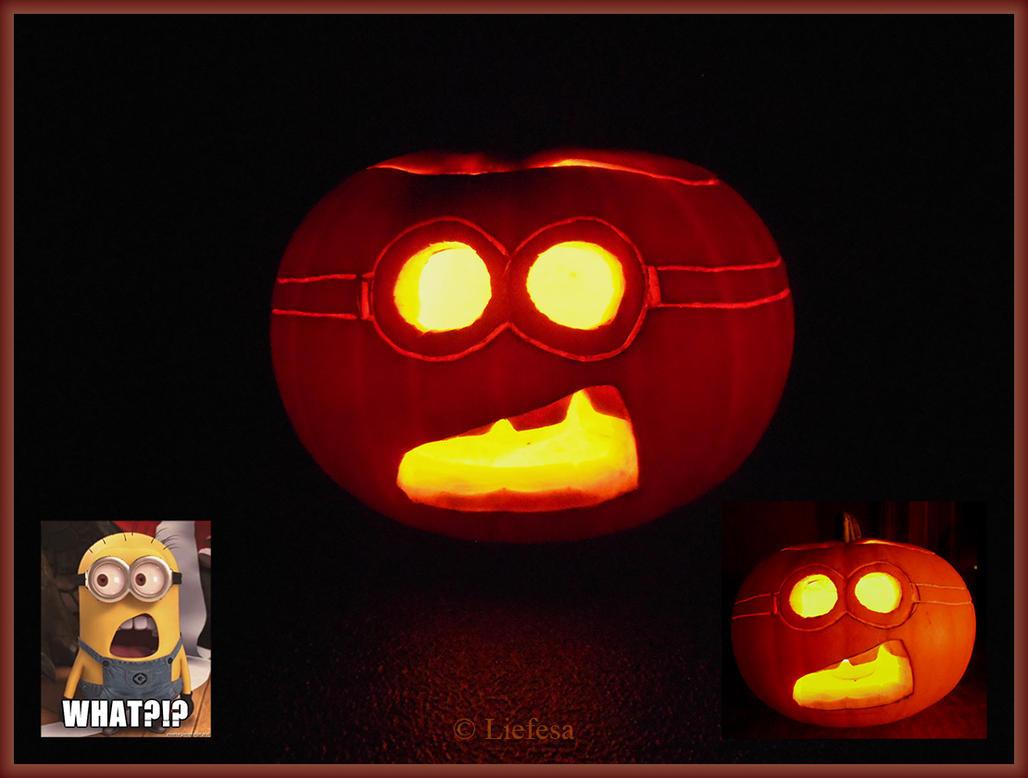 Minion Pumpkin by Liefesa