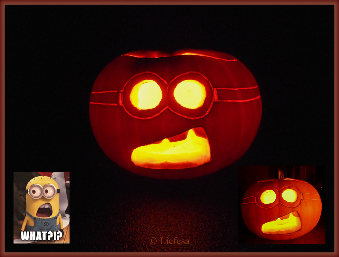 Minion Pumpkin by Liefesa