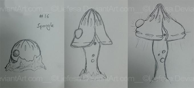 Sketches: Sporgle - Sporgus - Phospore by Liefesa
