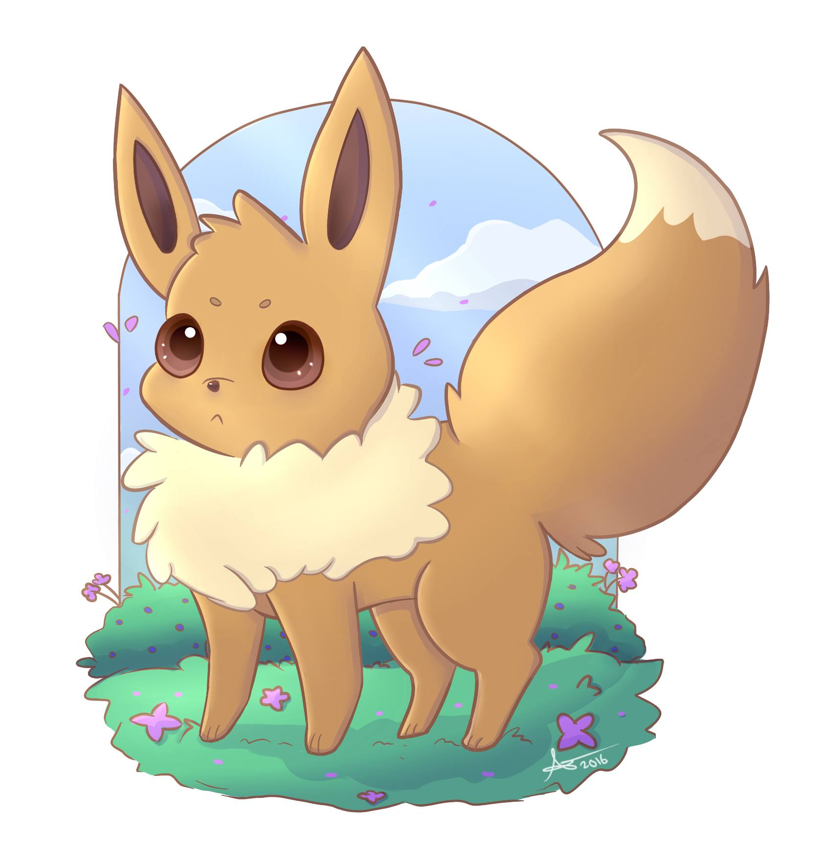 eevee by apanda54 on deviantart
