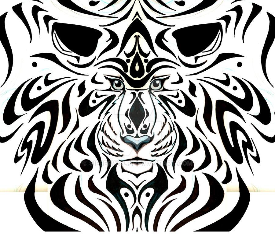 Tribal Tiger By Ruttan On Deviantart: Tribal Tiger Tattoo By Sieberwolf On DeviantArt