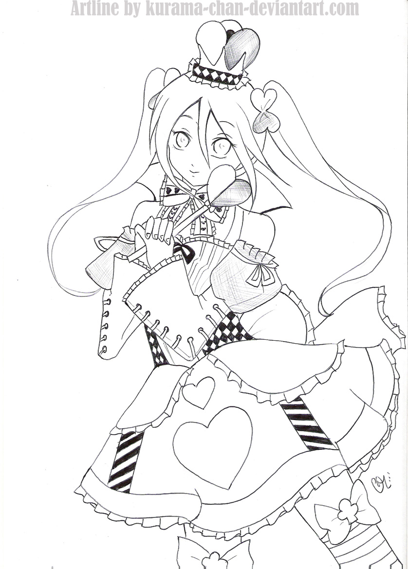 queen of hearts coloring page. broken doll coloring page carnival ...