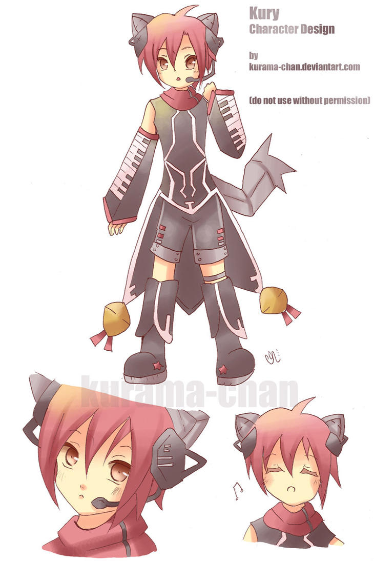 -- Vocaloid OC: Kury design -- by Kurama-chan
