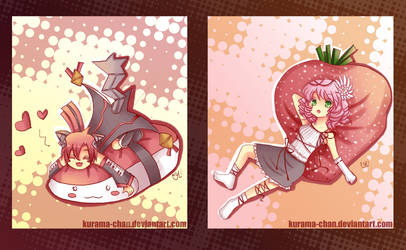 -- Strawberry and salmon -- by Kurama-chan