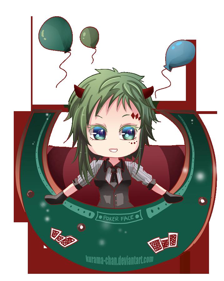 Gumi Chibi Cat Gumi Poker Face Chibi by