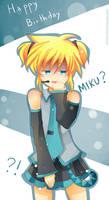 -- Happy Birthday...Miku? --
