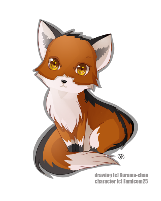 Chibi Red Fox Comission By Kurama Chan On Deviantart