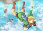 -- Collab: Link Skyloft Jump -- by Kurama-chan