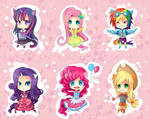 -- My Little Pony Gijinka Keychains --