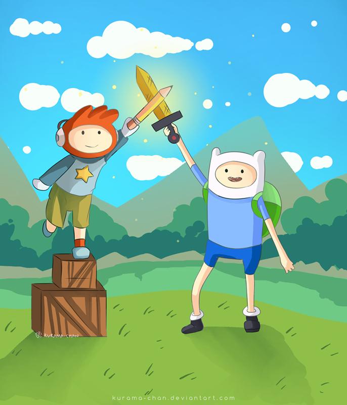 Maxwell Scribblenauts Drawing : Adventure time scribblenauts by kurama chan on