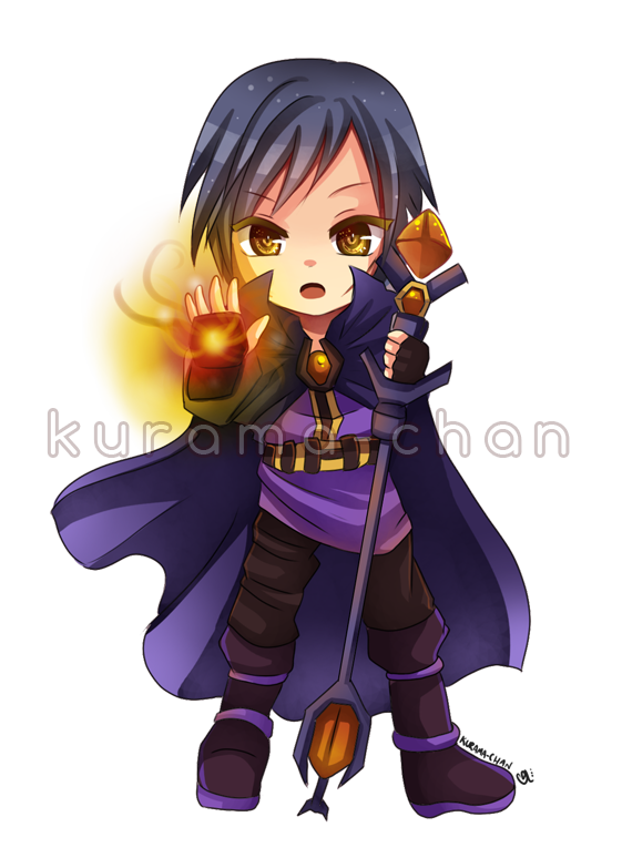 Chibi Magician Commission For Guardian BR By Kurama