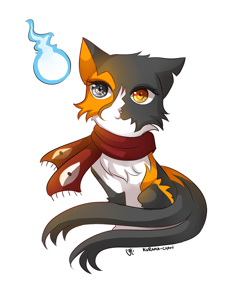 Chibi cat commission for xBlackKalicox -- by Kurama-chanAnime Chibi Cat Drawings
