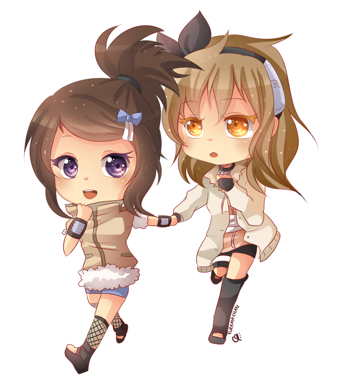 -- Chibi friends commission for VanilleCream -- by Kurama-chan