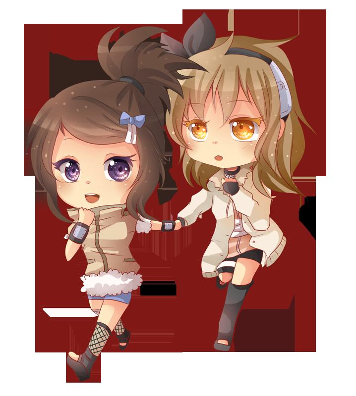 -- Chibi friends commission for VanilleCream -- by Kurama ...