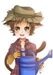 -- Commission for Shuichiboy: Farmer Cat Boy -- by Kurama-chan