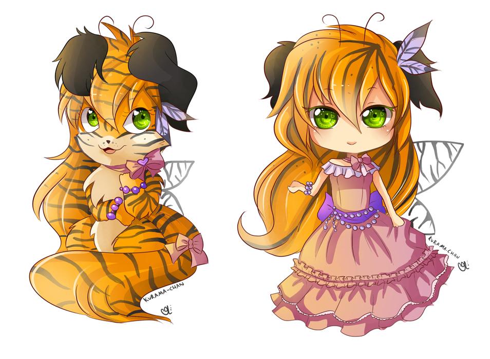 -- Chibi commissions for lazyandi -- by Kurama-chan