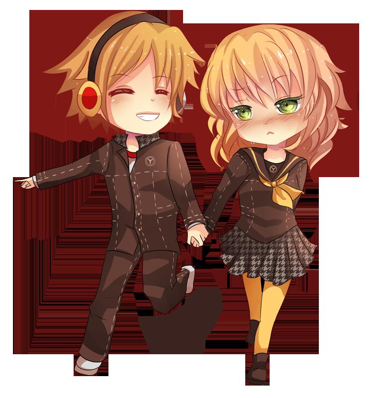 -- Chibi couple Commission for KoroMarimo --