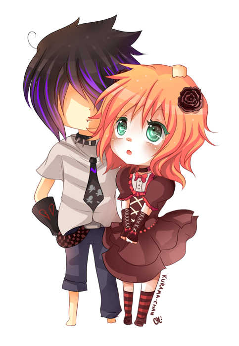 -- Chibi couple commission for ReisenSama -- by Kurama ...