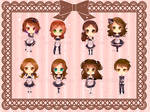 -- Special commission: Chibi Maid keychains -- by Kurama-chan