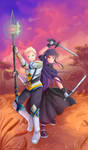 -- Special commission : Lucent and Aislyn -- by Kurama-chan