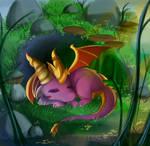 -- Commission for Azuredarkspyro : Chibi Spyro -- by Kurama-chan
