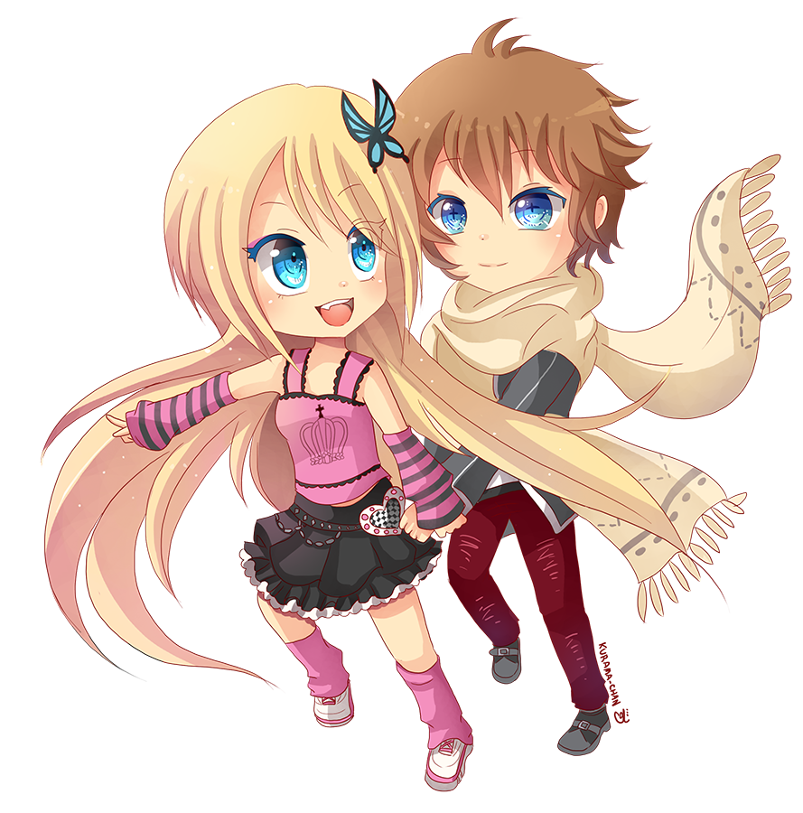 -- Chibi couple Commission for Darkehlicious 01 -- by ...