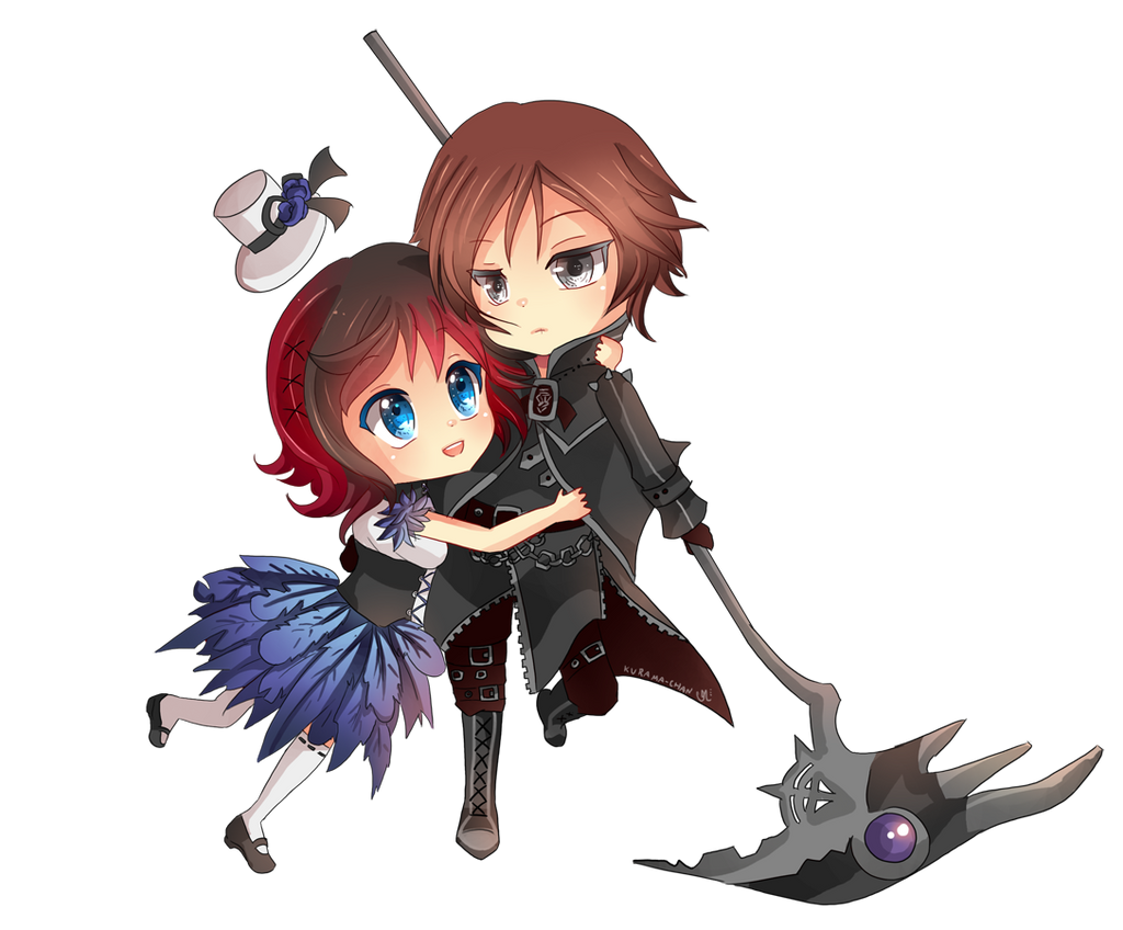 -- Chibi couple Commission for Darkehlicious 02 -- by Kurama-chan