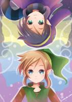 -- Zelda A Link Between Worlds : Link and Ravio -- by Kurama-chan