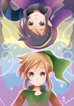 -- Zelda A Link Between Worlds : Link and Ravio --