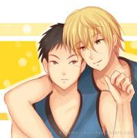 -- KnB : Kise and Kasamatsu -- by Kurama-chan